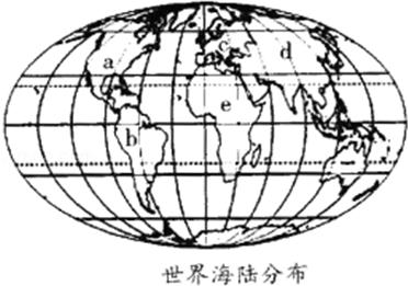 读世界海陆分布图,被a,b,c三大洲包围的大洋是(  )