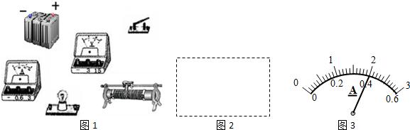 电路元件连接成测定小灯泡电功率的实验电路