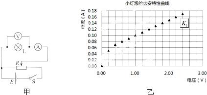 某课题组按照图甲所示的电路图,规范操作,准确测量,得到一系列数据