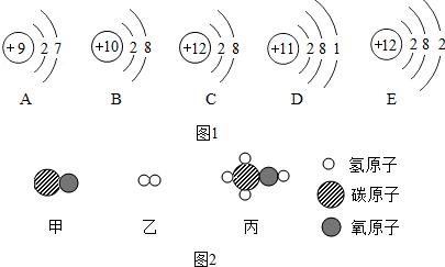 三种物质微观结构示意图