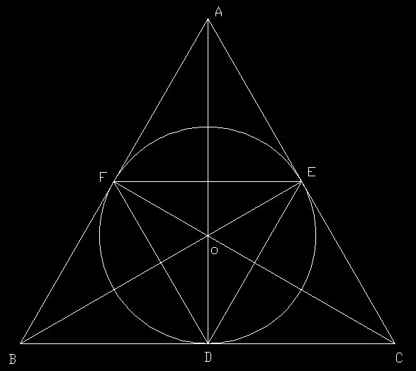 一个圆的半径为6,则它的内接正三角形与外切正三角形的面积比为 ?