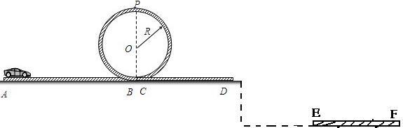 轨道ab的长度l=2m,圆形轨道的半径r=0