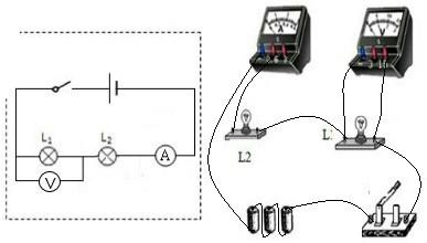 问一下:串联电流表与电压表的实物图连接